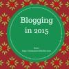Blogging in 2015