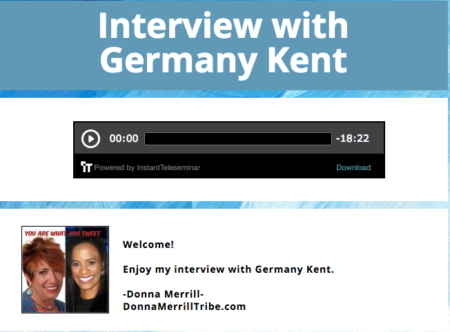 You Are What You Tweet | With Germany Kent