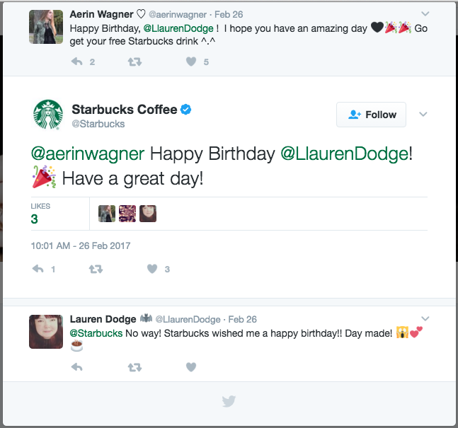 Starbucks Twitter List