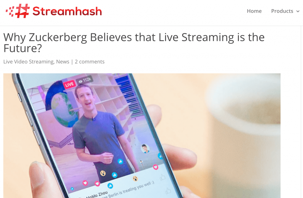 Live Stream Profits Zuckerberg