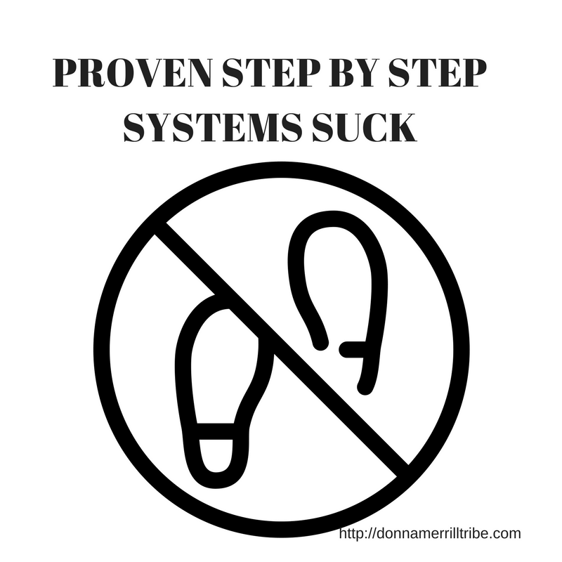 Proven Step by Step Systems for Bloggers Suck