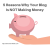 5 Reasons Why Your Blog Is NOT Making Money