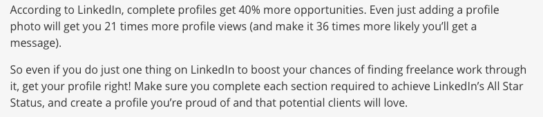 Get Freelance Work from LinkedIn