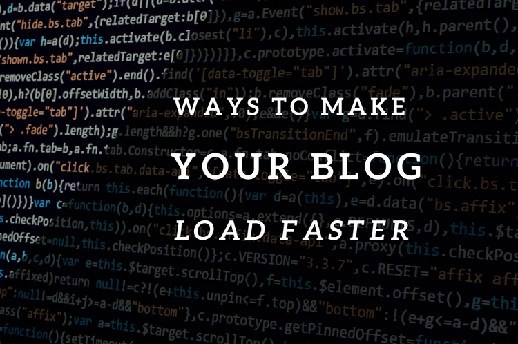 7 ways to make your blog load faster