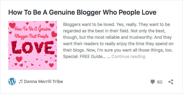 Be a genuine blogger who people love