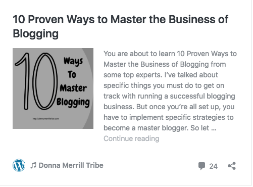 master the business of blogging