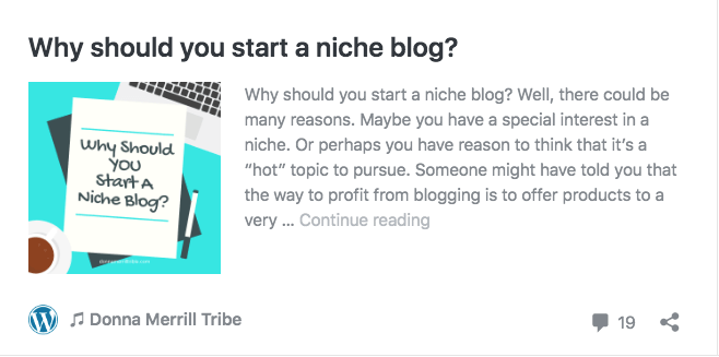 Why should you start a niche blog
