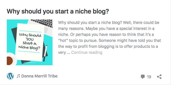 Why should you start a niche blog