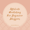 Affiliate Marketing For Beginner Bloggers