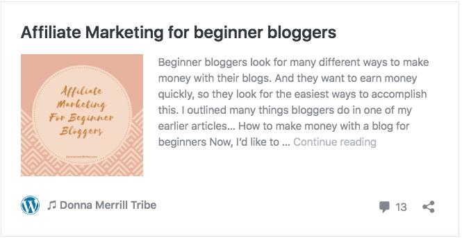 Affiliate Marketing for beginner bloggers