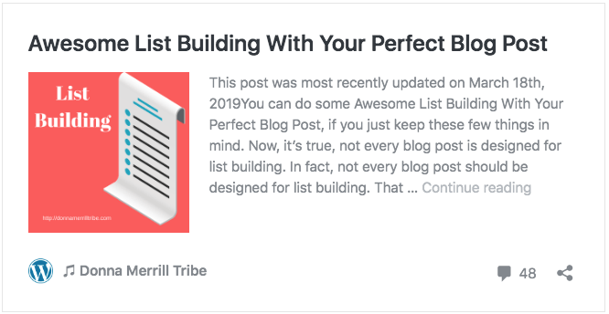 Awesome List Building With Your Perfect Blog Post