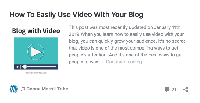 How To Easily Use Video With Your Blog