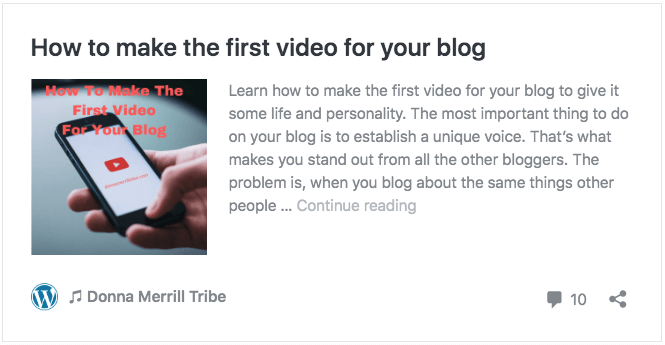How to make the first video for your blog