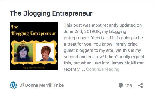 The Blogging Entrepreneur