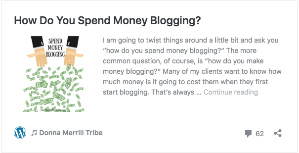 How Do You Spend Money Blogging