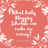 What Daily Blogging Schedule can make me money