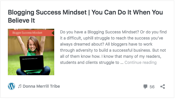 Blogging Success Mindset - You Can Do It When You Believe It