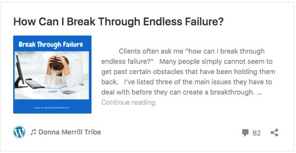 How Can I Break Through Endless Failure