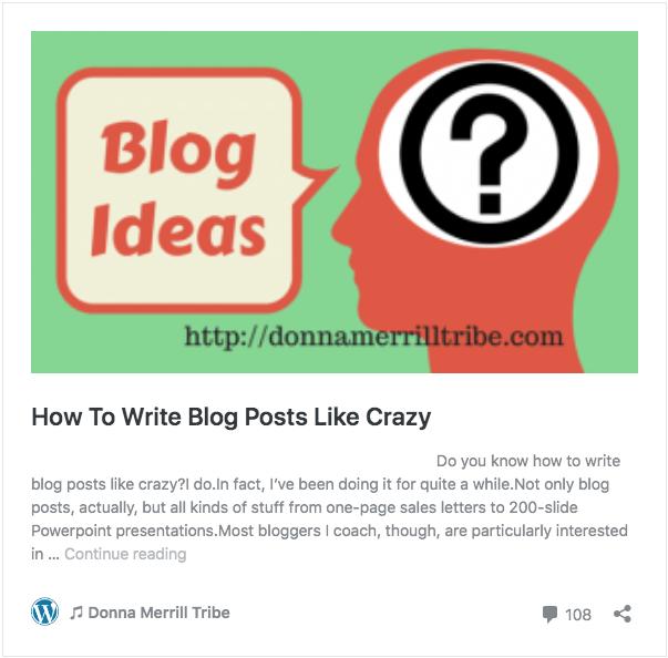 How To Write Blog Posts Like Crazy