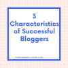 Successful Bloggers Characteristics