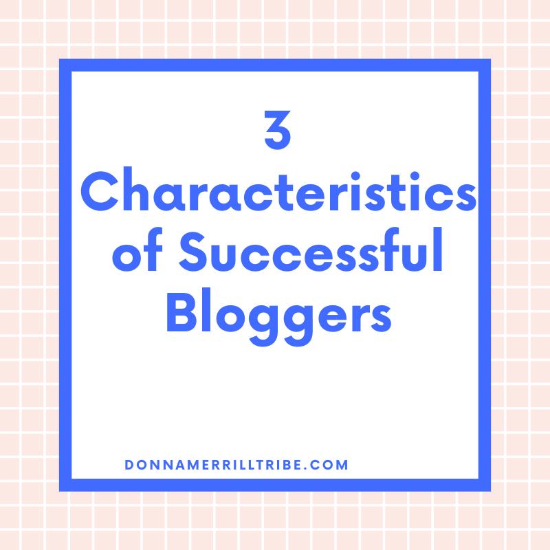 Successful Bloggers Characteristics