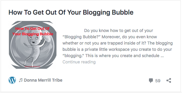 How to get out of your blogging bubble