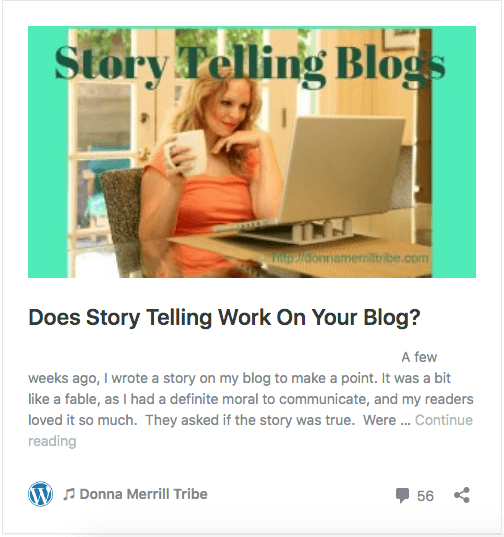 Does Story Telling Work on Your Blog