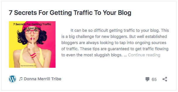 7 Secrets For Getting Traffic To Your Blog