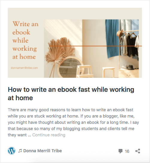 How to write an ebook fast while working at home