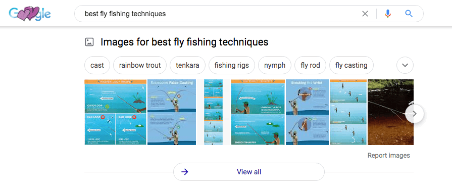Google search for fly fishing