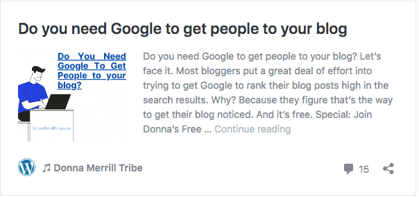 Do you need Google to get people to your blog