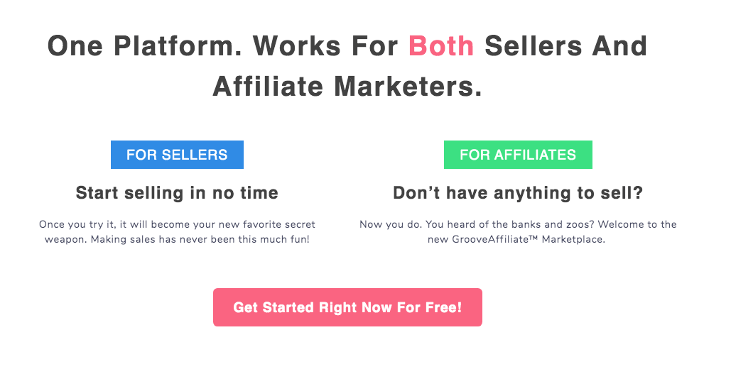 GrooveFunnels for Sellers and Affiliates