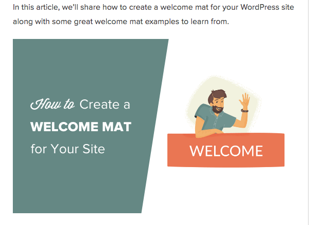 Welcome Mat blog