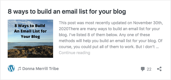 build an email list for your blog