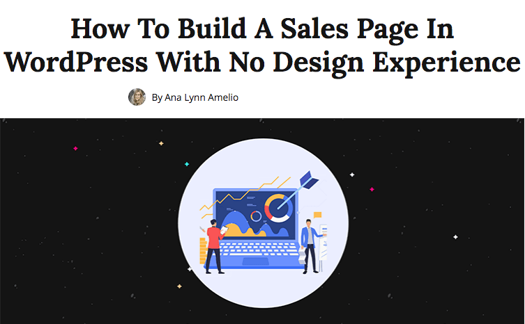 Build A Sales Page In WordPress